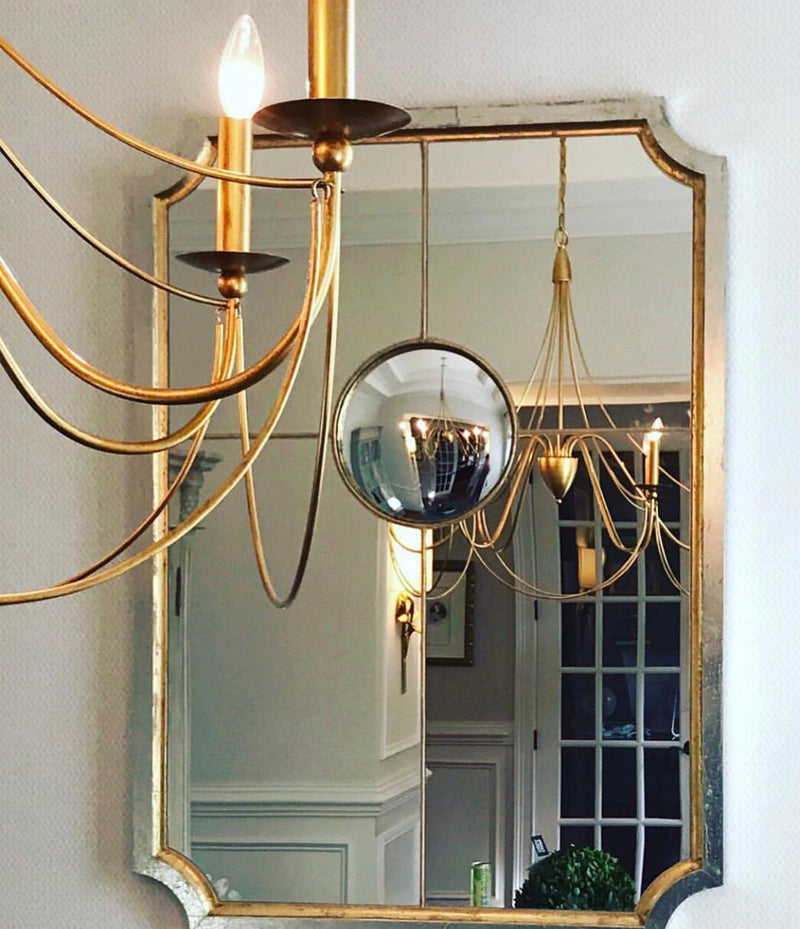Gold Louis Mirror | Tulip Silver and Gold Sectional Mirror