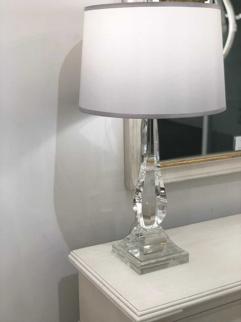 Erin Crystal Base Wooden Table Lamp - Lillian Home