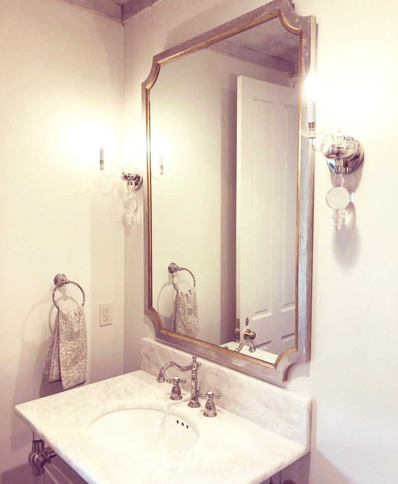 Tulip Silver & Gold Wall Mirror