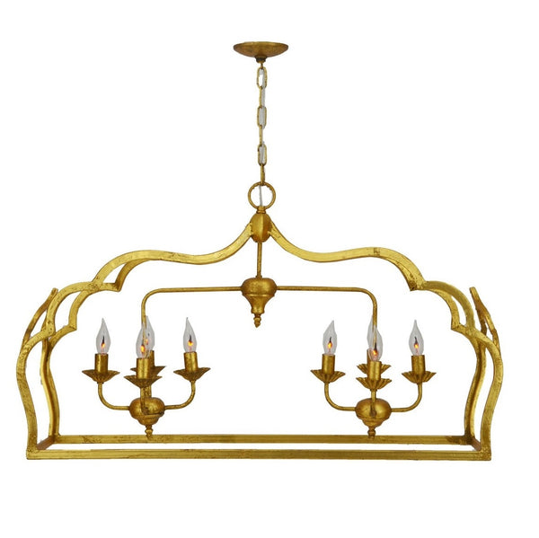Dining room lighting, gold 8 light kitchen island light fixture, designer lighting