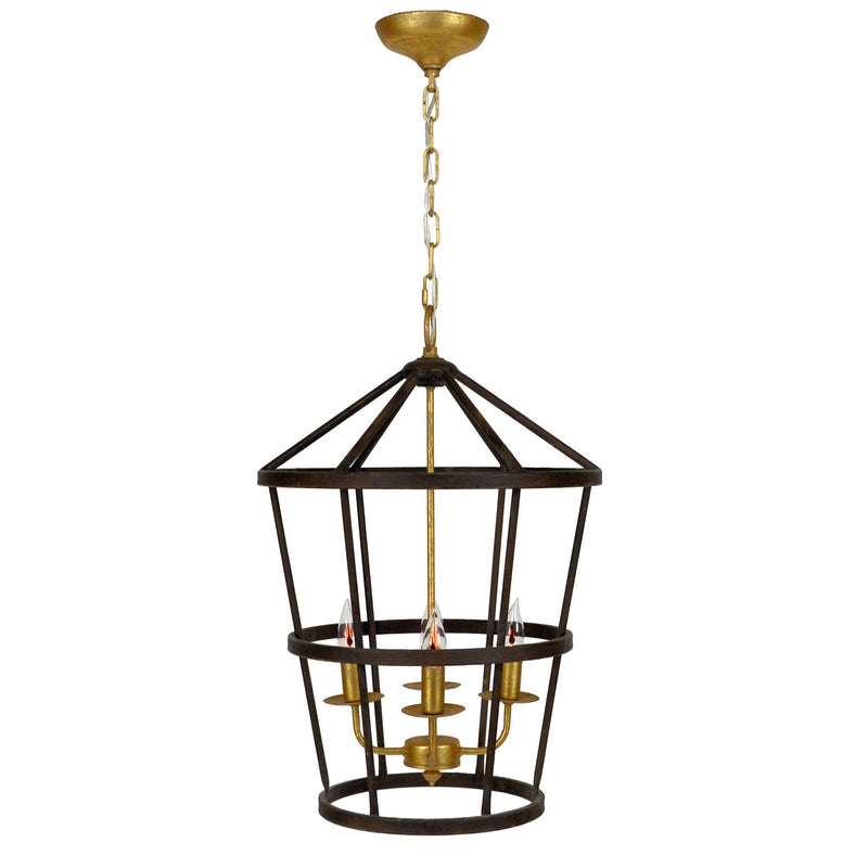 Arman 4 Light Brown and Gold Lantern - Lillian Home