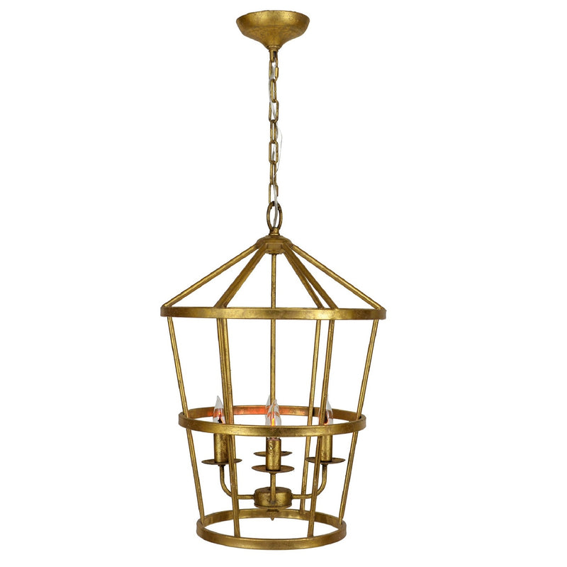 Arman 4 Light Gold Lantern - Lillian Home