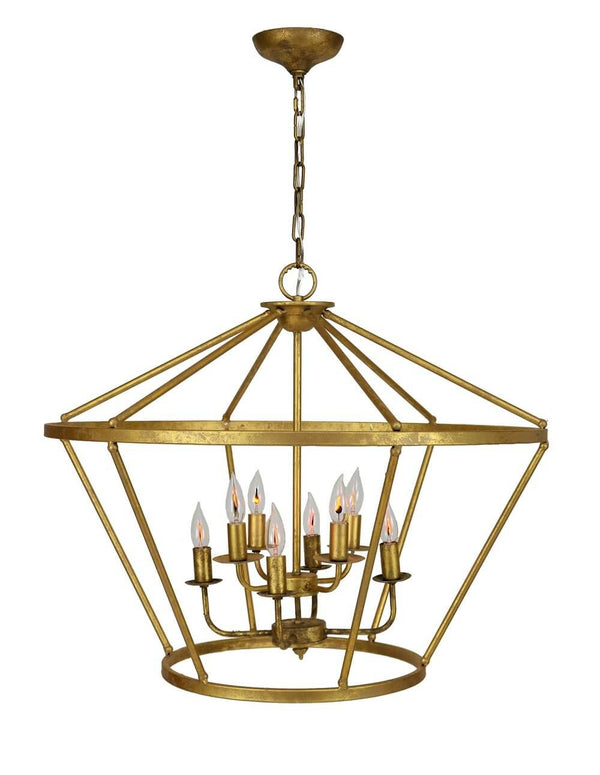 Houseland 8 Light Gold Lantern - Lillian Home
