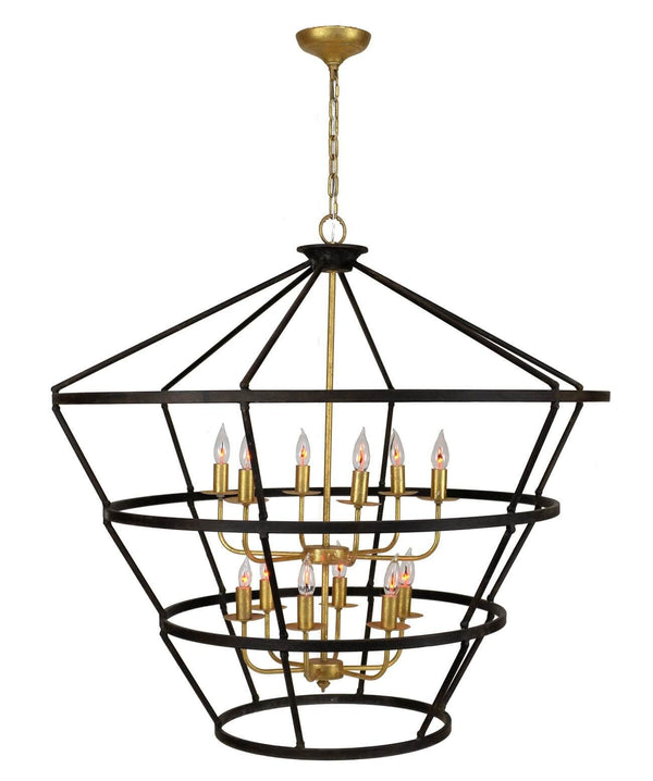 Massive 12 Light Brown and Gold Lantern - Lillian Home