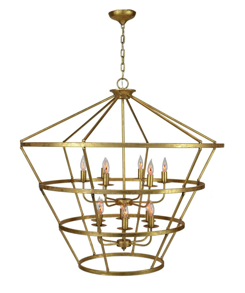 Massive 12 Light Gold Lantern - Lillian Home