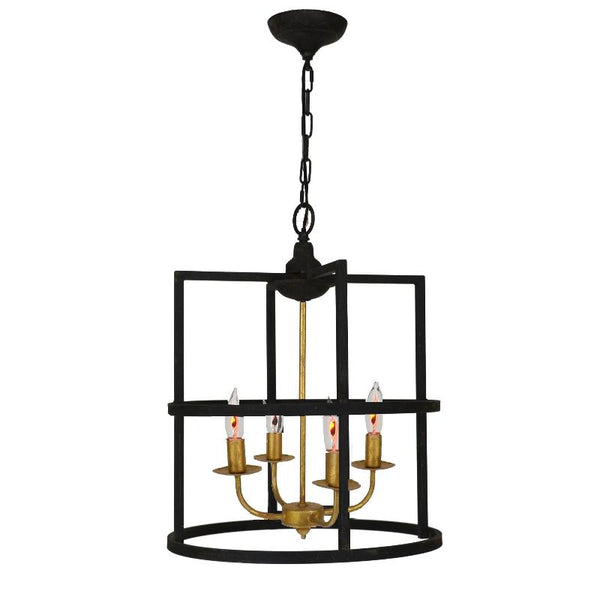 Louisino Black and Gold Pendant - Lillian Home