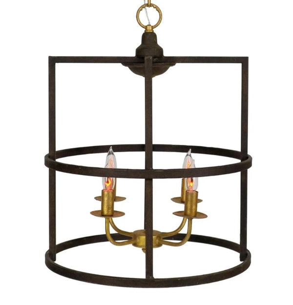 Louisino 4 Light Brown And Gold Lantern