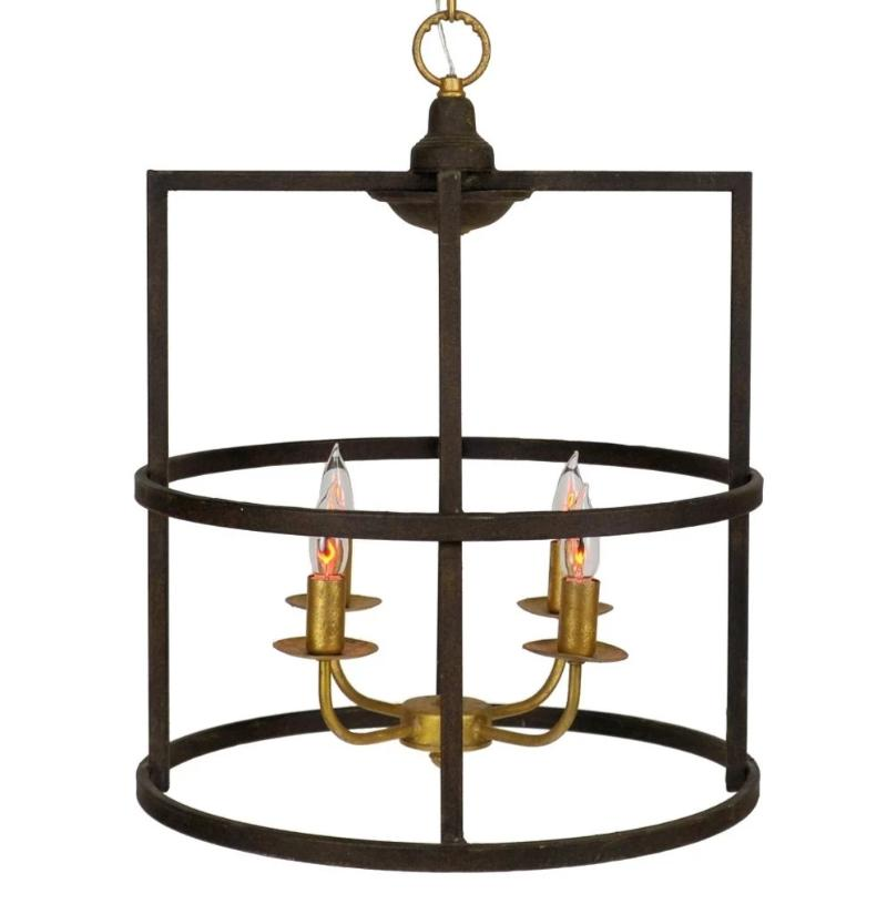 Louisino 4 Light Brown and Gold Lantern - Lillian Home