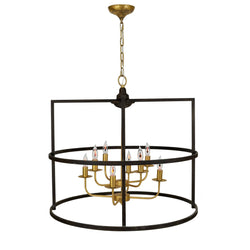 Central 8 Light Brown Gold Pendant Lantern