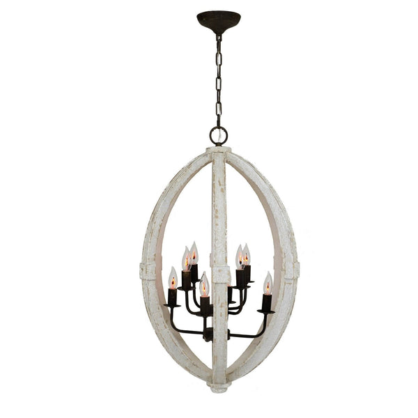 Egglon 8 Light White Lantern - Lillian Home