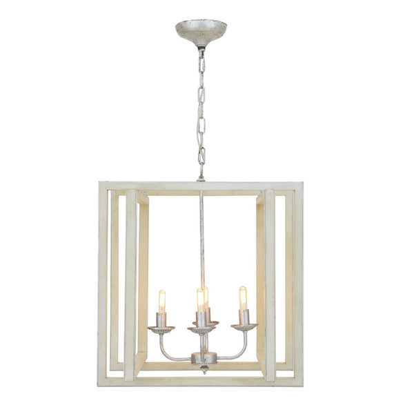 Martin 4 Light Grey and Silver Lantern - Lillian Home