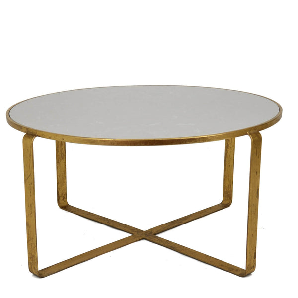 Donnas Gold Leaf Stone Top Coffee Table - Lillian Home