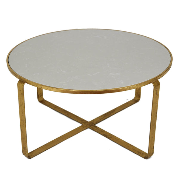 Donnas Gold Leaf Stone Top Coffee Table