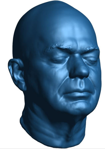 Man face scan - peel 3d scanner - handheld 3d scanner