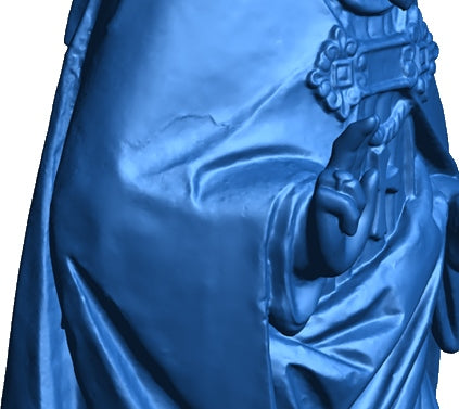 details of a statue 3d scan with peel 3d scanner