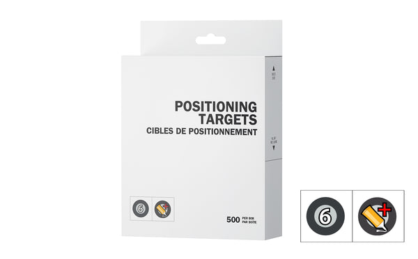 Positioning targets - super adhesive
