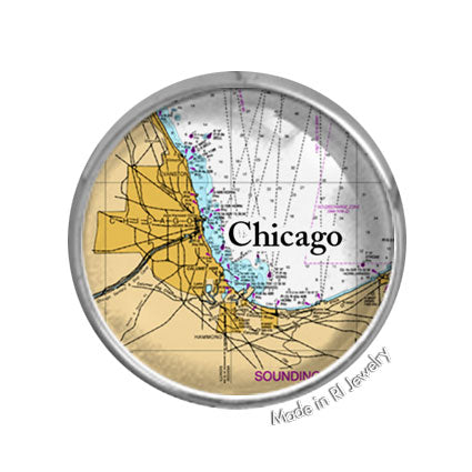 Chicago, IL -  Nautical Chart