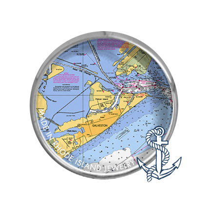 Galveston, TX -  Nautical Chart