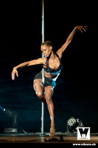 Phoenix Kazree at the Land of Lakes Pole Dance Festival