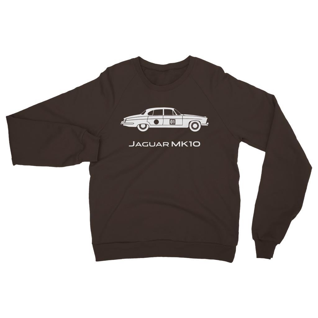 Mk10 Silhouette - White Heavy Blend Crew Neck Sweatshirt