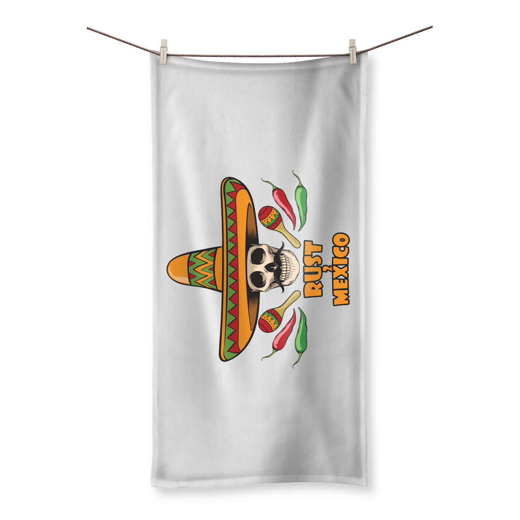Rust 2 Mexico Sombrero Beach Towel