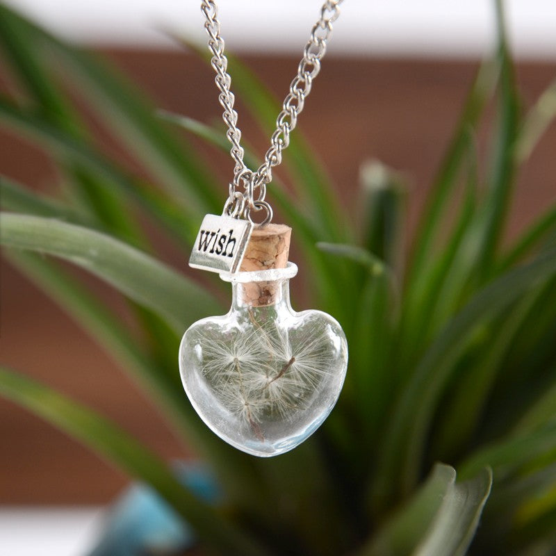 Wish Glass Bottle Necklace
