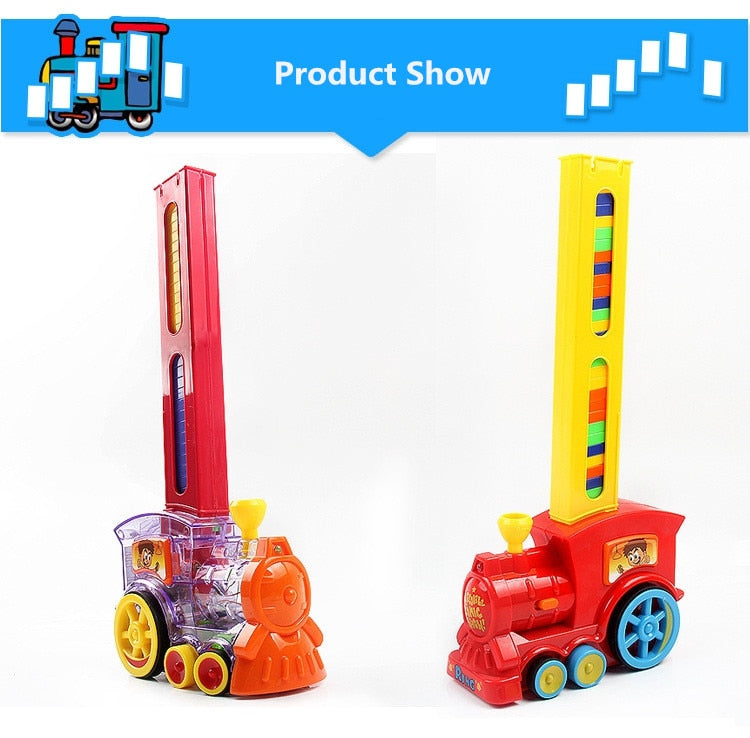 ELECTRIC TRAIN - DOMINO BUILDING BLOCKS