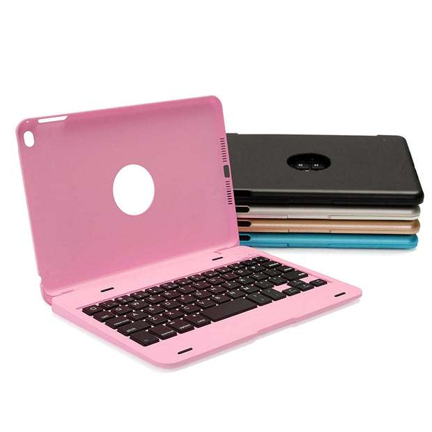 "ULTRA SLIM ALUMINUM PORTABLE WIRELESS BLUETOOTH KEYBOARD COVER CASE FOR IPAD MINI 4 (7.9"" INCH)"