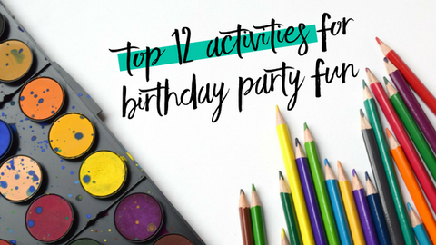 Top 12 Activities For Birthday Party Fun Perfect Party Supplies Perfect Party In A Box