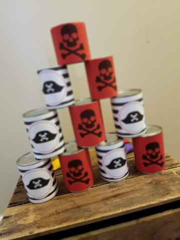 pirate tin can toss