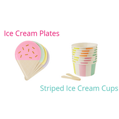 Ice Cream Plates and Cups Perfect Party In a Box