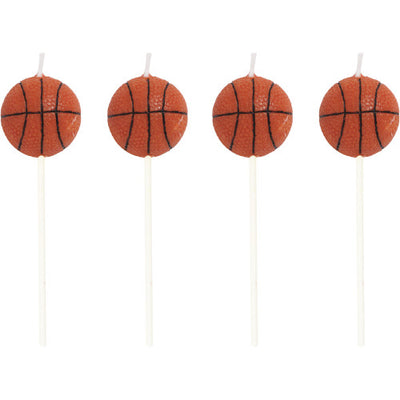 Basketball Pick Candles. In the shape and colour of an NBA basketball