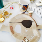 Gold Paper Pirate Plates with eye patch