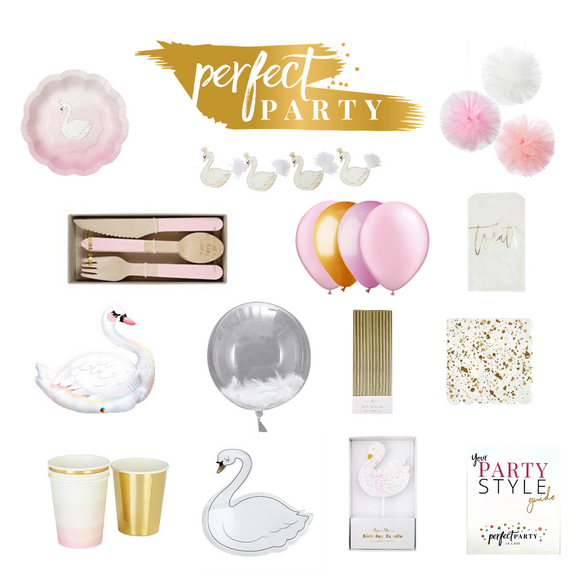 ** NEW ** SWEET SWAN PARTY IN A BOX