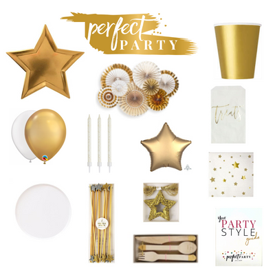 Perfect Party Vision Board with Decor items and Table essentials