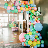 Large Balloon Multi Coloured installation at entrance way