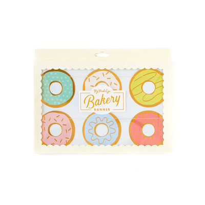 Donut Bakery Banner Party Decor in a variety of colours