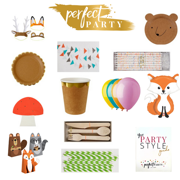 Woodland Adventure Party In a Box Vision Board