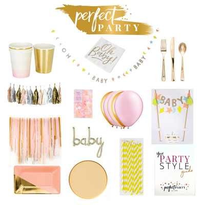 Sweet baby Girl Party In a Box Vision Board