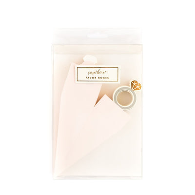 Light Pink Paper party favour ring boxes for wedding events or bridal showers