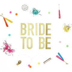 Bride to Be gold banner party supplies