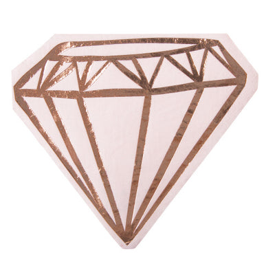 Light pink, with gold foil diamond shaped napkins. Perfect for bridal parties or bachelorettes.