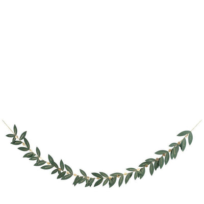 Festive Foliage Garland with Gold details.