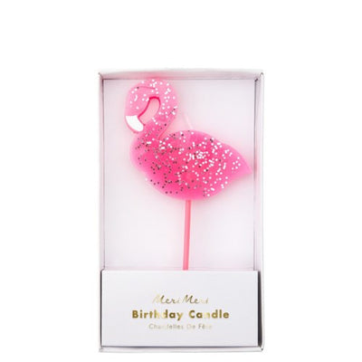Pink Flamingo Shaped Candle Party Supplies