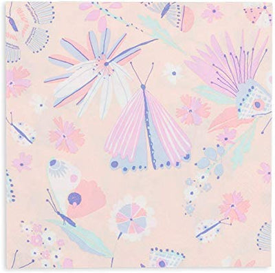 Flutter Pastel Pink and Purple Party Napkins