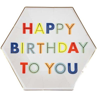 Perfect Party in a box Happy Birthday Paper Party Plates Party Supplies