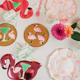 Flamingo Party Supplies on table set up
