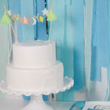 White Cake with Oh Baby Cake Topper