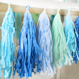 Blue and Green Tassel garland party decoration