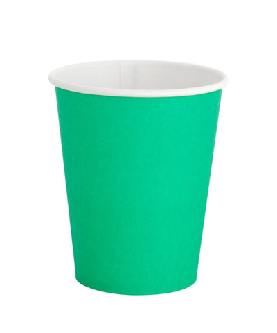 Kelly Green Paper Party Cups
